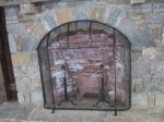 Arched Fire Screen