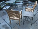 Patio table with teak chairs
