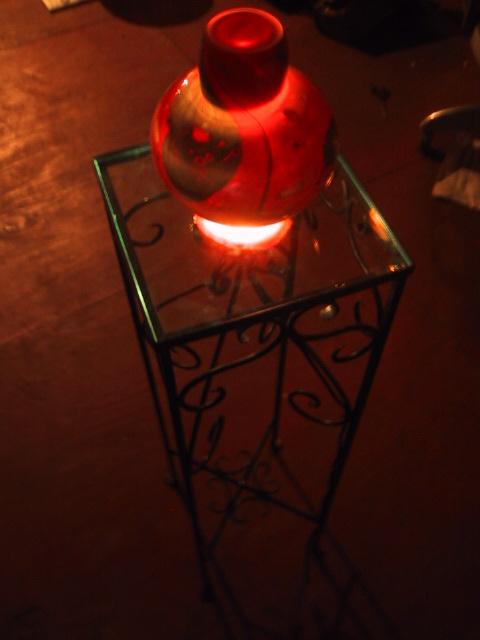 Glass Vase Light Table