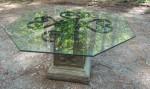 Octagonal Glass Mandala Table