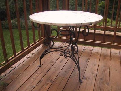 Leafy Marble Table