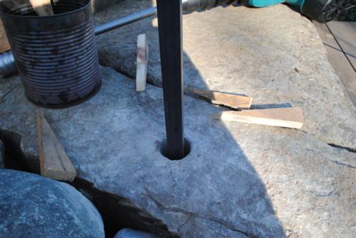 Granite tread core bit drilling