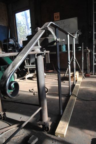 Railing in the shop in progress