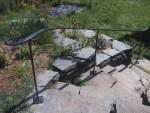 Iron Railing on stone stairway