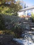 Natural Stone Stairway Railing